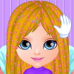 baby barbie haircut game